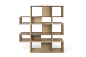 London Composition 2010-002 Oak Frame Backs Bookcase