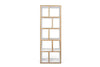 Berlin 5 Levels 70 Cm Pure White / Plywood Bookcase