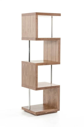 Modrest Stage 2 Modern Walnut Wall Unit Bookcase