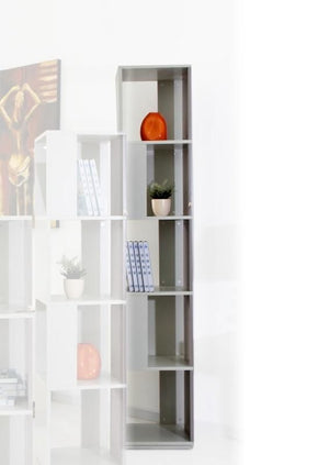 Modrest Elevate 3 - Modern Grey Display Unit Bookcase