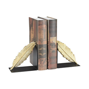 Ferrier Bookends In Gold And Black Gold,black Bookend