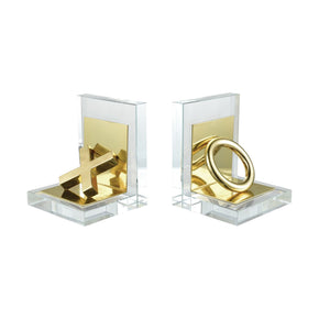 Vanquish Bookends Gold Bookend