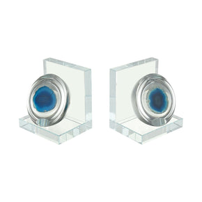 Elysium Bookends Blue Bookend