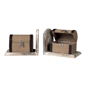 Travellers Trunk Bookends * Bookend