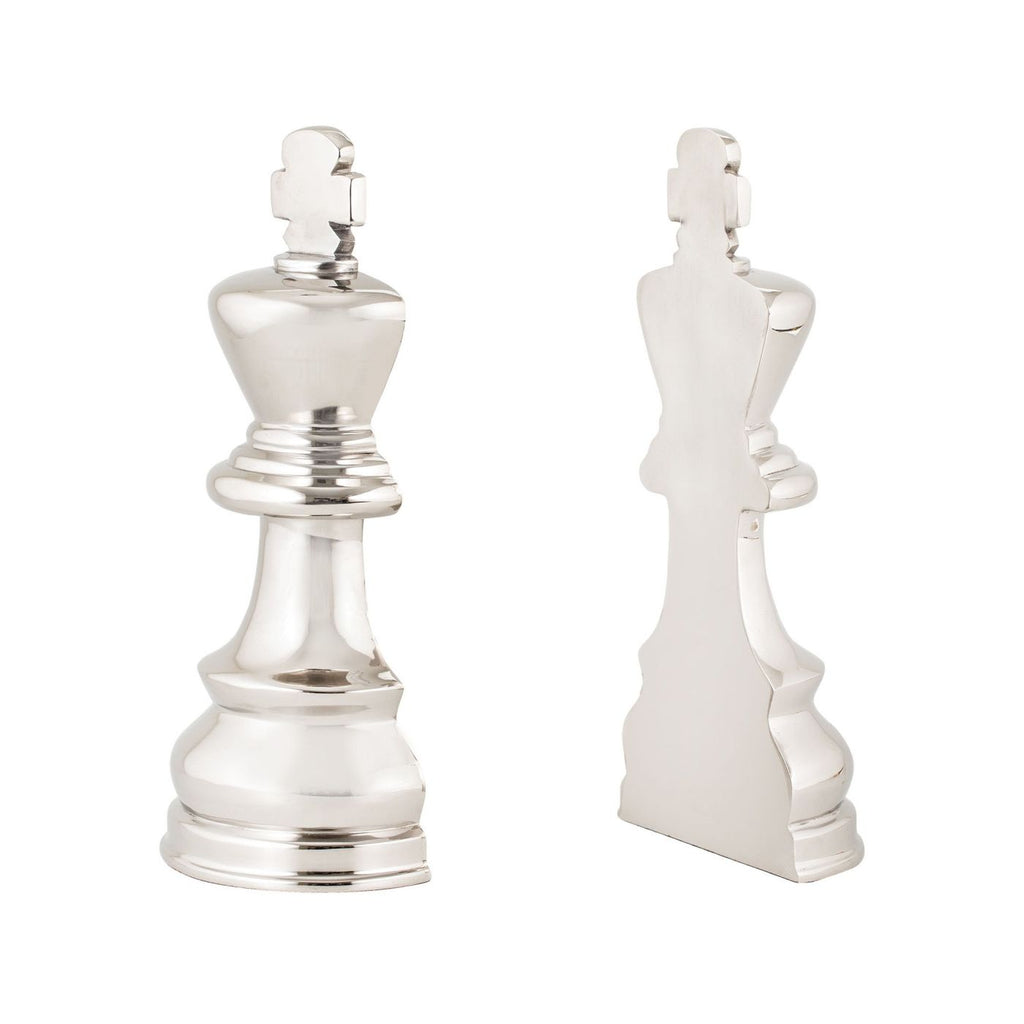Chess Piece Book Ends Nickel Bookend