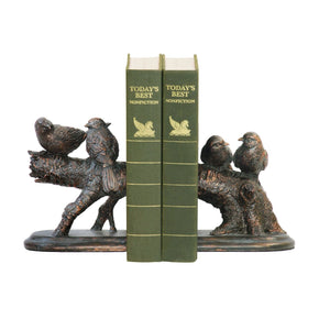 Pair Of Continuing Branch Bookends Bronze Bookend