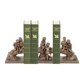 Set Of 3 Secret Tree Bookends Carmo Copper Bookend