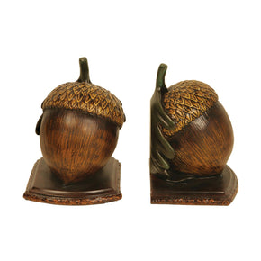 Pair Of Muir Woods Acorn Bookends Brown Bookend