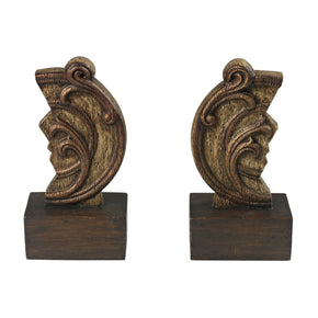 Set Of 2 Reclaimed Artifact Bookends Bookend