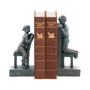 Pair Peek A Boo Bookends Bronze Bookend