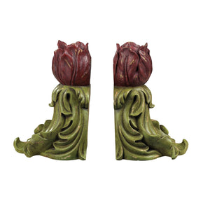 Rosebud Book Ends-Js Bookend