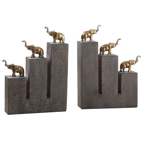 Elephant Bookends S/2 Bookend