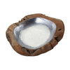 Round Teak Bowl With Aluminum Insert - Large Natural Teak,Aluminum