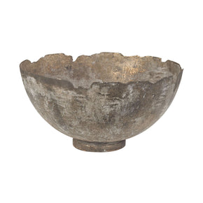 Jagged Mouth Metal Bowl Natured Aged