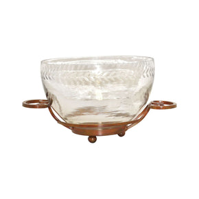 Burnham Serving Bowl - Large Burned Copper,clear