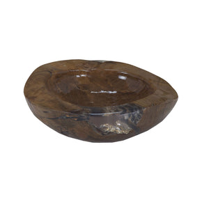 Cristobal 16-Inch Teak And Composite Bowl Clear,honey