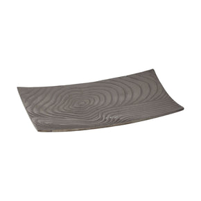 Khronos Textured Rectangular Bowl - Small Black Nickel