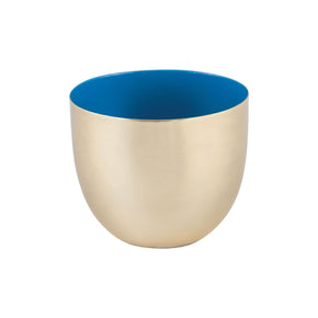Argos Round Votive Gold,royal Blue Bowl