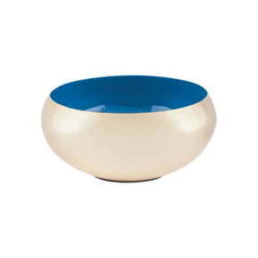 Argos Round Bowl Gold,royal Blue
