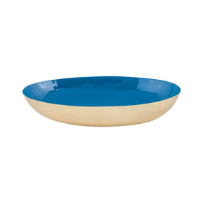 Argos Oval Bowl Gold,royal Blue