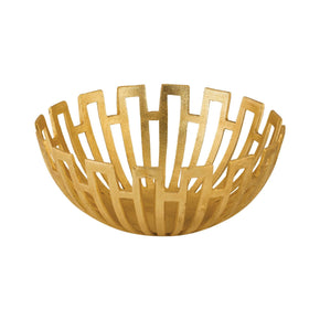 Greek Starburst Bowl Gold