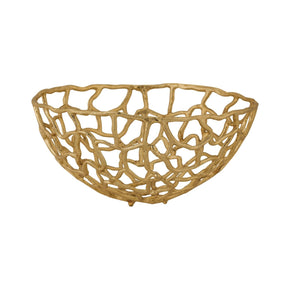 Bowls - Elk Group ELK-8990-007 Medium Free Form Bowl Gold | 818008022609 | Only $100.00. Buy today at http://www.contemporaryfurniturewarehouse.com