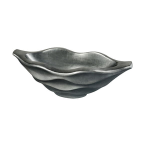 Kona Storm Wave Planter - Small Pewter Bowl