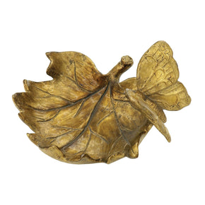 Butterfly Bowl Gold Leaf