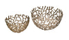 Nest Bowls Silver Set Of 2 Aluminum