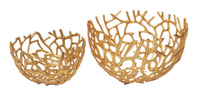 Nest Bowls Gold Set Of 2 Aluminum Bowl