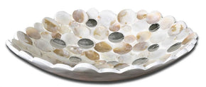 Capiz Shell Accented Bowl