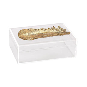Carta Decorative Box Clear,gold
