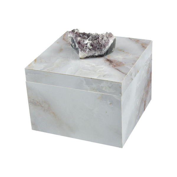 Boxes - Elk Group ELK-387-041 Ekaterina Decorative Box Grey Marble,Natural Geode | 843558154067 | Only $74.00. Buy today at http://www.contemporaryfurniturewarehouse.com