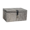 Grey Hairon Leather Box - Small