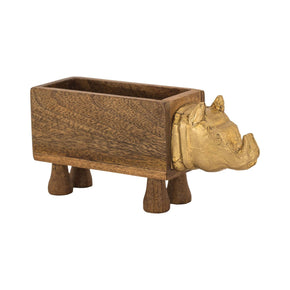German Silver Rhino Box Natural Mango,german