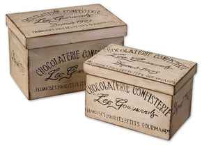 Chocolaterie Decorative Boxes Set/2 Box