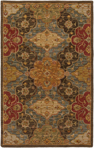 Carrington Classic Area Rug Green Brown
