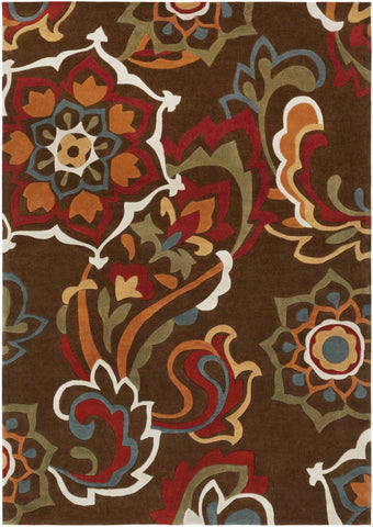 Cosmopolitan Floral And Paisley Area Rug Brown
