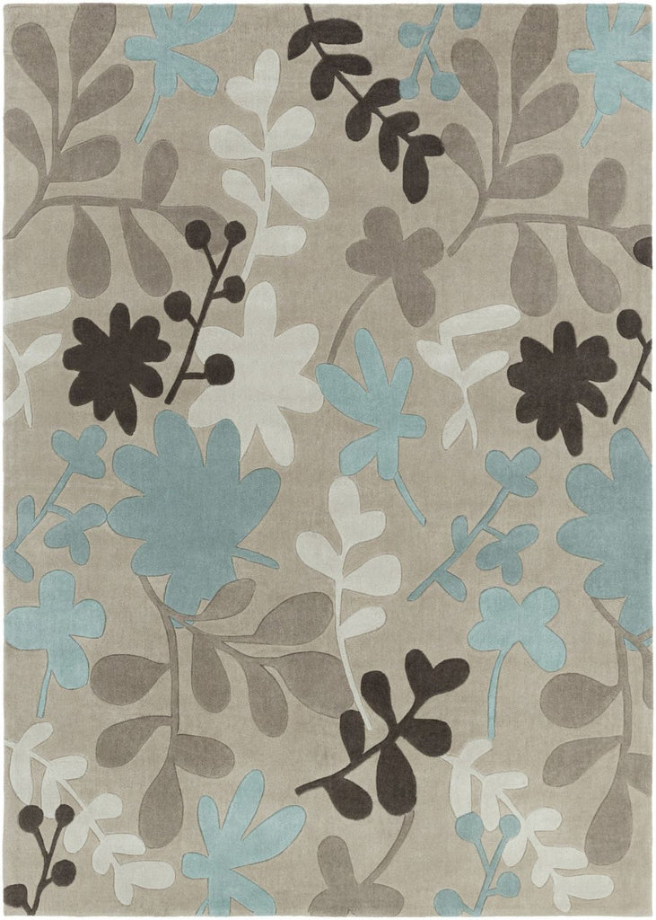 surya cosmopolitan floral and paisley area rug blue gray at contemporary furniture warehouse. Black Bedroom Furniture Sets. Home Design Ideas