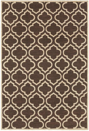 Amarillo Geometric Area Rug Brown