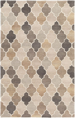 Oasis Geometric Area Rug Neutral Brown