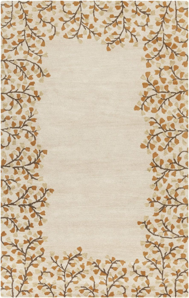 Athena Solids And Borders Area Rug Neutral