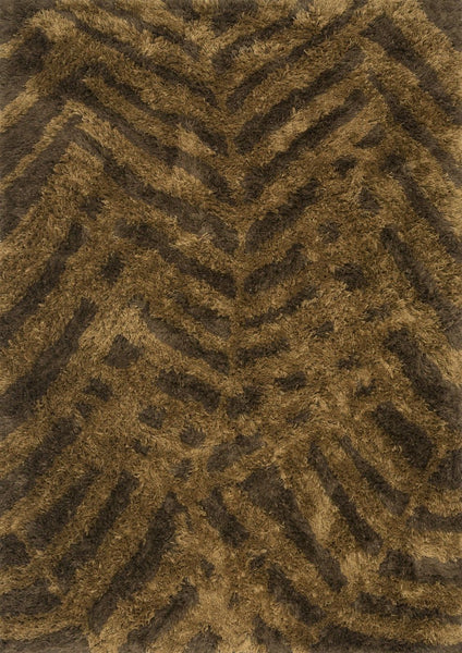 Loloi Garden Shag Brown / Bronze Area Rug