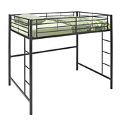 Black Metal Full Loft Bed Bunk