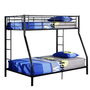 Twin Over Full Metal Bunk Bed - Black