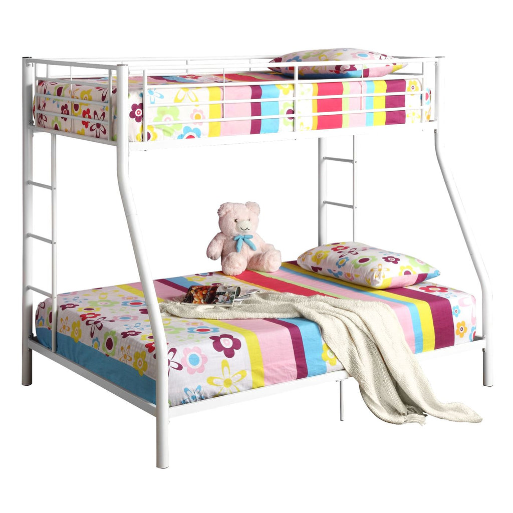 Bunk Beds - Walker Edison BTODWH Twin over Full Metal Bunk Bed - White | 812492010357 | Only $298.99. Buy today at http://www.contemporaryfurniturewarehouse.com