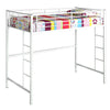 Twin Metal Loft Bed - White