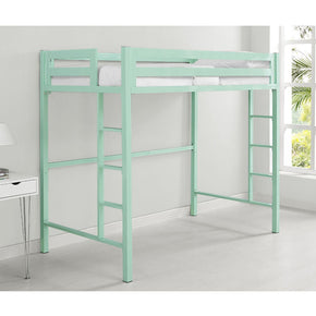 Bentley Twin Metal Loft Bed - Mint Bunk
