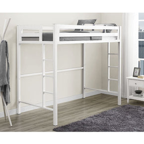 Bunk Beds - Walker Edison BTSQTOLWH Bentley Twin Metal Loft Bed - White | 814055023118 | Only $398.99. Buy today at http://www.contemporaryfurniturewarehouse.com