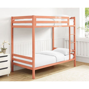 Bentley Twin Over Metal Bunk Bed - Coral